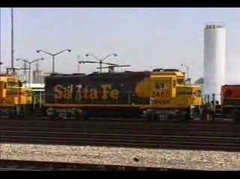 There's always some railroad action at the BNSF Locomotive Facility in Commerce, CA. The classic EMD GP30 locomotives are still busy working here, doing most...