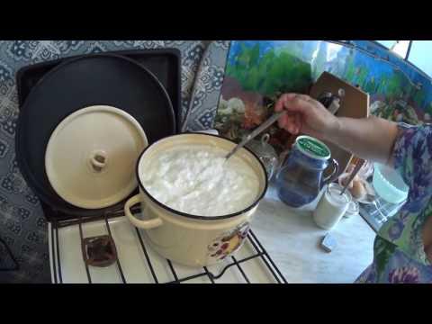 Домашний творог из настоящего коровьего молока // Рецепт настоящего творога! // жизнь в деревне