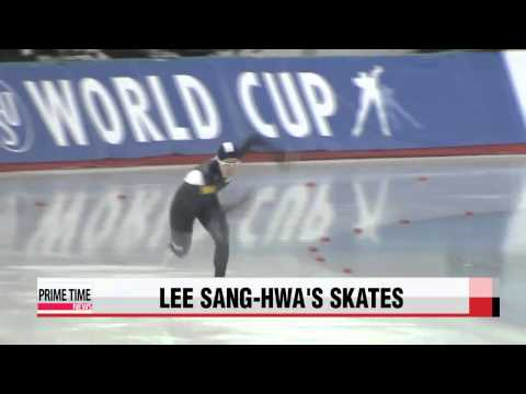 Lee Sang-hwa′s skates from gold medal win in Sochi to be displayed at Olympic Mu