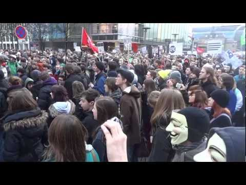 ACTA-Demo in Hamburg vom (UtopieTV Dokumentation vom 25.02.2012)