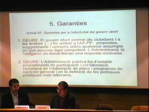 Jornada Llei de transparència de Catalunya - Pere Simón