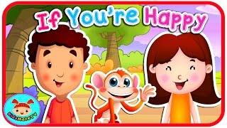 If You're Happy And You Know It (Clap Your Hands) ★ Nursery Rhymes Songs for Children ★KidsMateTv★