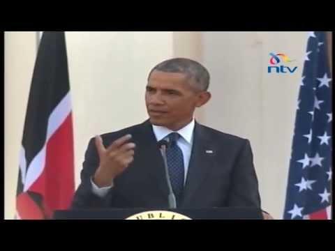 FULL VIDEO! Presidents Obama & Kenyatta full address from State House, Nairobi
