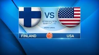 BANDY WORLD CHAMPIONSHIP 2018. FINLAND - USA
