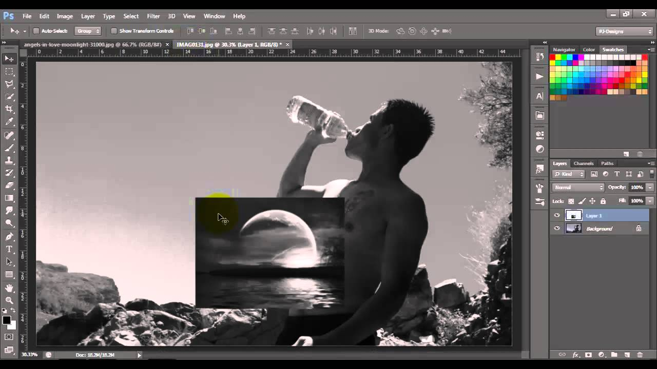 how to add a layer in photoshop 7.0