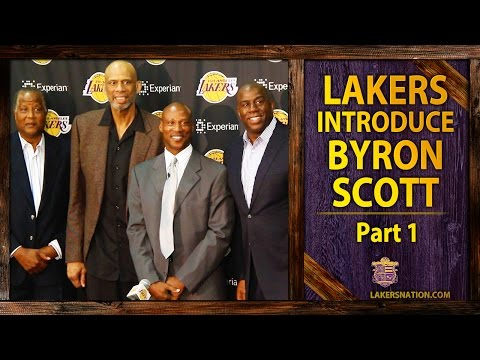 Magic Johnson, Kareem, Jamaal Wilkes Introduce Byron Scott As Lakers Head Coach