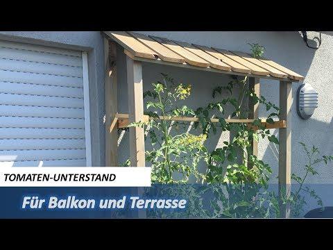 Tomatenunterstand für Balkon/Terrasse (mit Spiralstäben)