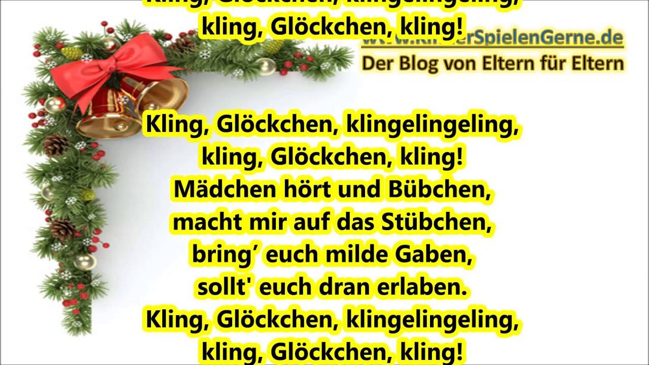 weihnachtslieder deutsch kling gl ckchen klingelingeling. Black Bedroom Furniture Sets. Home Design Ideas