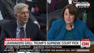 Klobuchar asks Gorsuch if, as an originalist, he thinks women should be allowed to be president