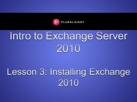 Installing Microsoft Exchange 2010