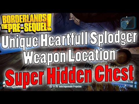 Borderlands: The Pre-Sequel   Heartfull Splodger Unique Weapon Location   Super Hidden Chest