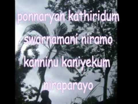 Keranirakal Malayalam Song Karoke video