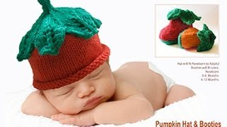 HOW TO KNIT A PUMPKIN BABY HAT -  Part 1
