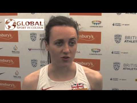 Laura Muir Post Diamond League interview - Birmingham 2015