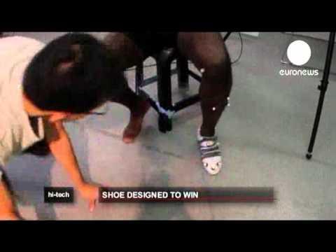 Shoe designed to win   euronews, hi-tech.