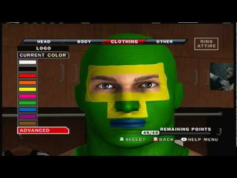 Smackdown Vs Raw 2010 Caw how to make kick ass part 1/5