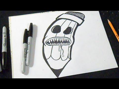 Cómo dibujar un Lápiz Graffiti - YouTube