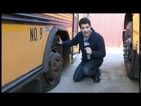 Vandals damaged multiple busses belonging to the Ell Saline / USD 307 School District.