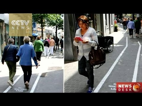 Antwerp provides special lanes for mobile phone users