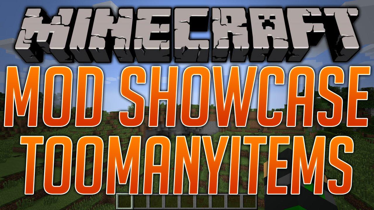 Скачать мод TooManyItems для Minecraft 1.8.8