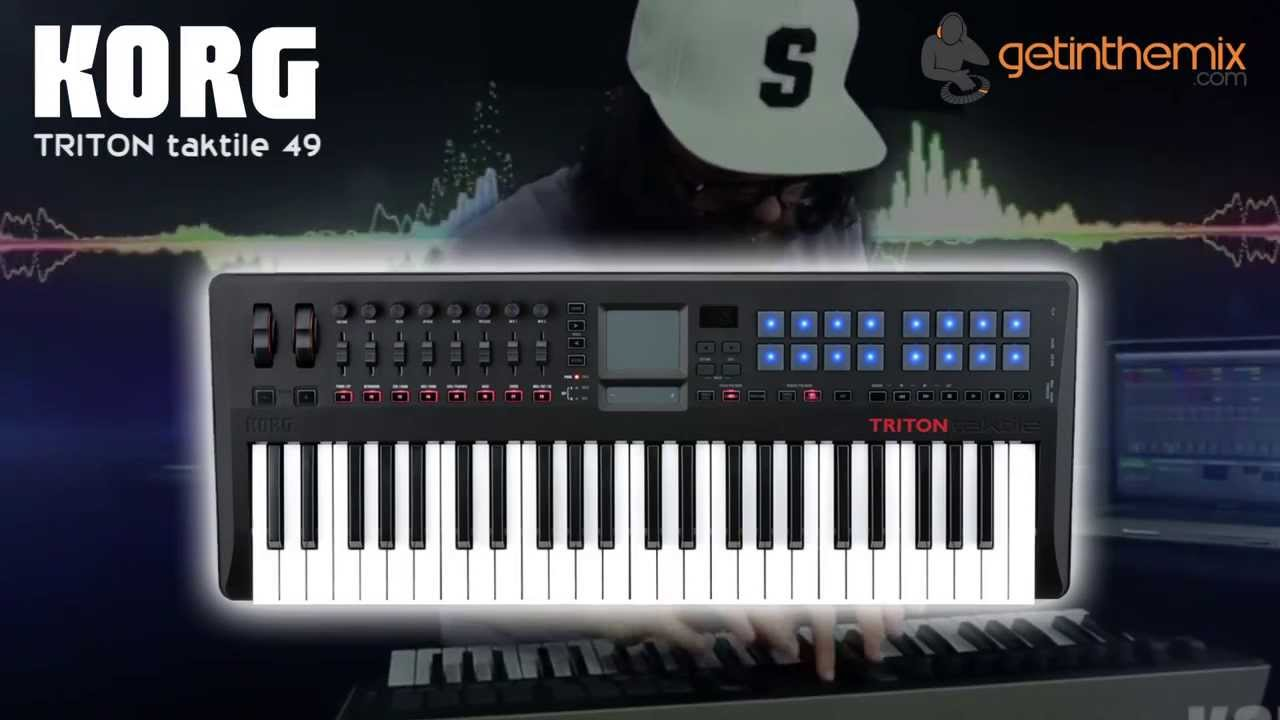 Korg Triton Taktile 49 USB and MIDI Keyboard Controller