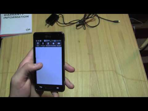 LG Optimus F3  Unboxing (Virgin Mobile)