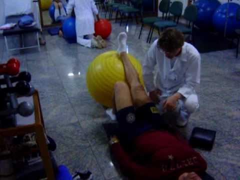 """Recuperaçao de menisco """"treinamento isometrico """" perna direita"""