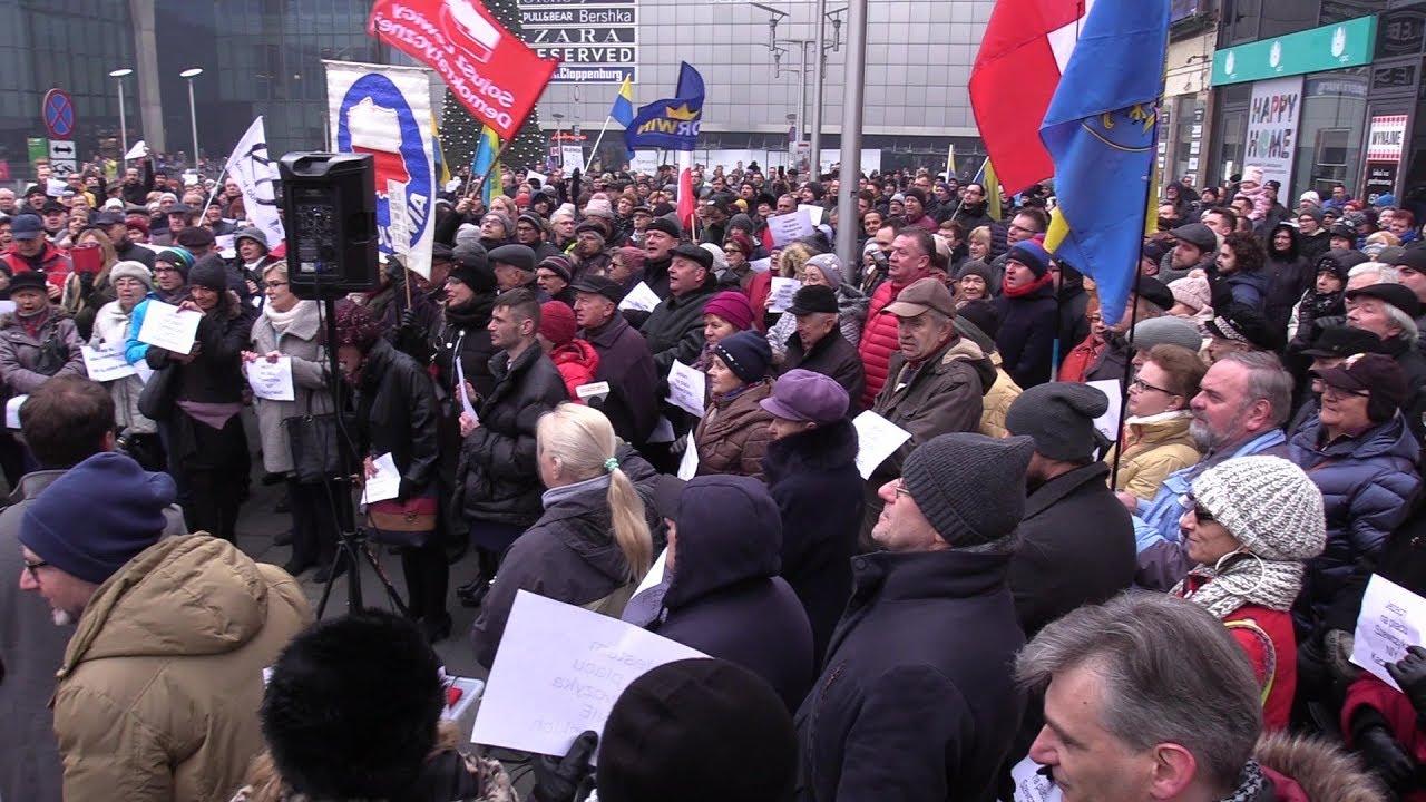 Protest w obronie Placu Szewczyka 16.12.2017
