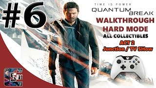 Quantum Break Walkthrough - HARD - All Collectibles ACT 2 Junction / Live Action TV Show
