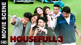 Akshay, Riteish, Abhishek meet Boman | Housefull 3 | Movie Scene