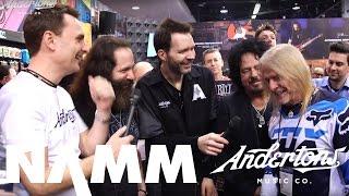 Paul Gilbert, Steve Lukather, John Petrucci, Steve Morse Crash Ernie Ball at NAMM