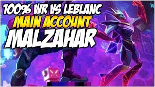 MY 100% WIN RATE MALZAHAR VS LEBLANC! - Climb to Master S8 | League of Legends