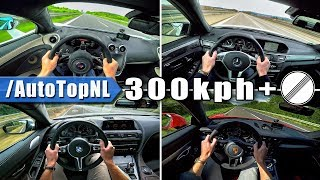 AUTOBAHN POV 300+ km/h ACCELERATION & TOP SPEED Compilation by AutoTopNL