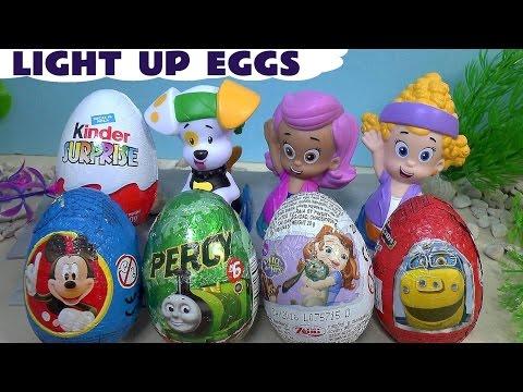 Bubble Guppies Mermaid Surprise Eggs Princess Thomas And Friends Toys Huevo Kinder Sorpresa Mickey video