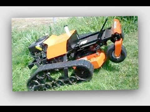 Remote Control Slope Mower with tracks
