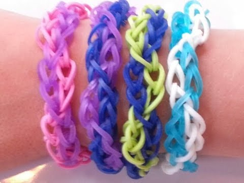 RAINBOW LOOM ZIG ZAG BRACELET - HOW TO