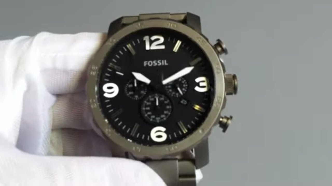 How To Set Date On Fossil Nate Watch Best Actors 25 And Under Jr1527 50mm Chronograph Black Dial Two Tone Stainless Adds New Watches Its Android Wear Lineup