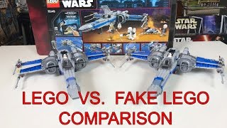 Lego X-Wing VS  Lepin X-Wing Comparison Review