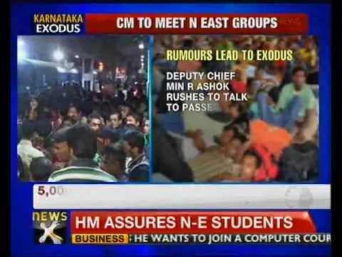 CM convenes meet over North-East people fleeing Bangalore - NewsX