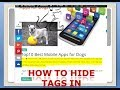 how to hide tags, author name  and meta tags in  wordpress (blogger)