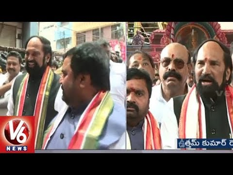 Uttam Kumar Reddy Participate In Secunderabad Mahankali Bonalu Festival Celebrations | V6 News
