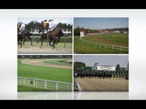 Racecourses Fornells: Startin gates and running rails for horses .m4v