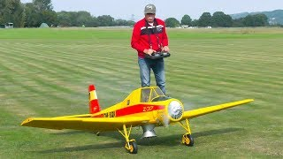 HUGE RC SCALE MODEL LET Z-37 ČMELÁK IN DETAIL AND DEMO FLIGHT!! * RC MODEL AIRPLANE