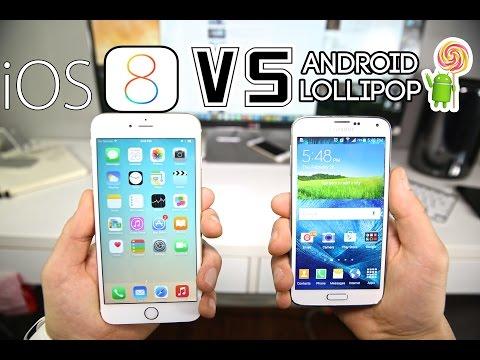 Android 5.0 Lollipop VS iOS 8 - iPhone 6 & Samsung Galaxy S5 Comparison