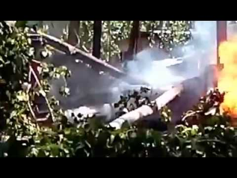 Helicopter crashed at Hatharan Soibug in Budgam district