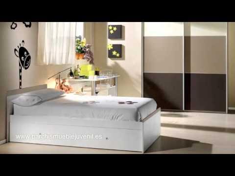 Camas nido juveniles camas dobles camas triples compactos tres camas muebles infantiles - Dormitorios juveniles dobles ...