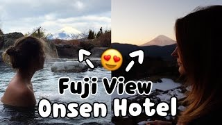 Best ONSEN with FUJI view in Japan! || Sam in Hakone