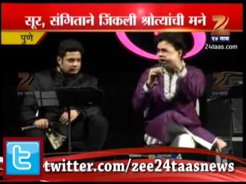 Zee24taas : Pune Vasant Utsav - Rahul Deshpande And Swapnil Bandodkar Song video
