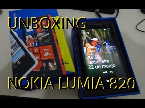 Unboxing e Review Nokia Lumia 820 PORTUGUÊS