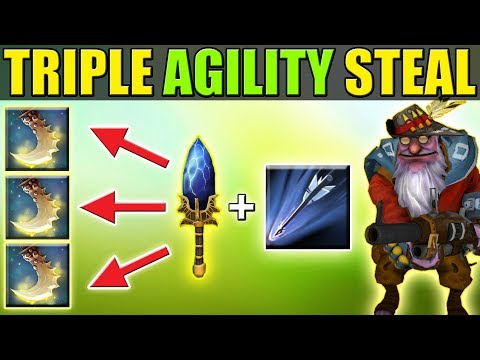 Insane Ultimate Upgrade + Triple Agility Gain [Monster Sniper] Dota 2 Ability Draft